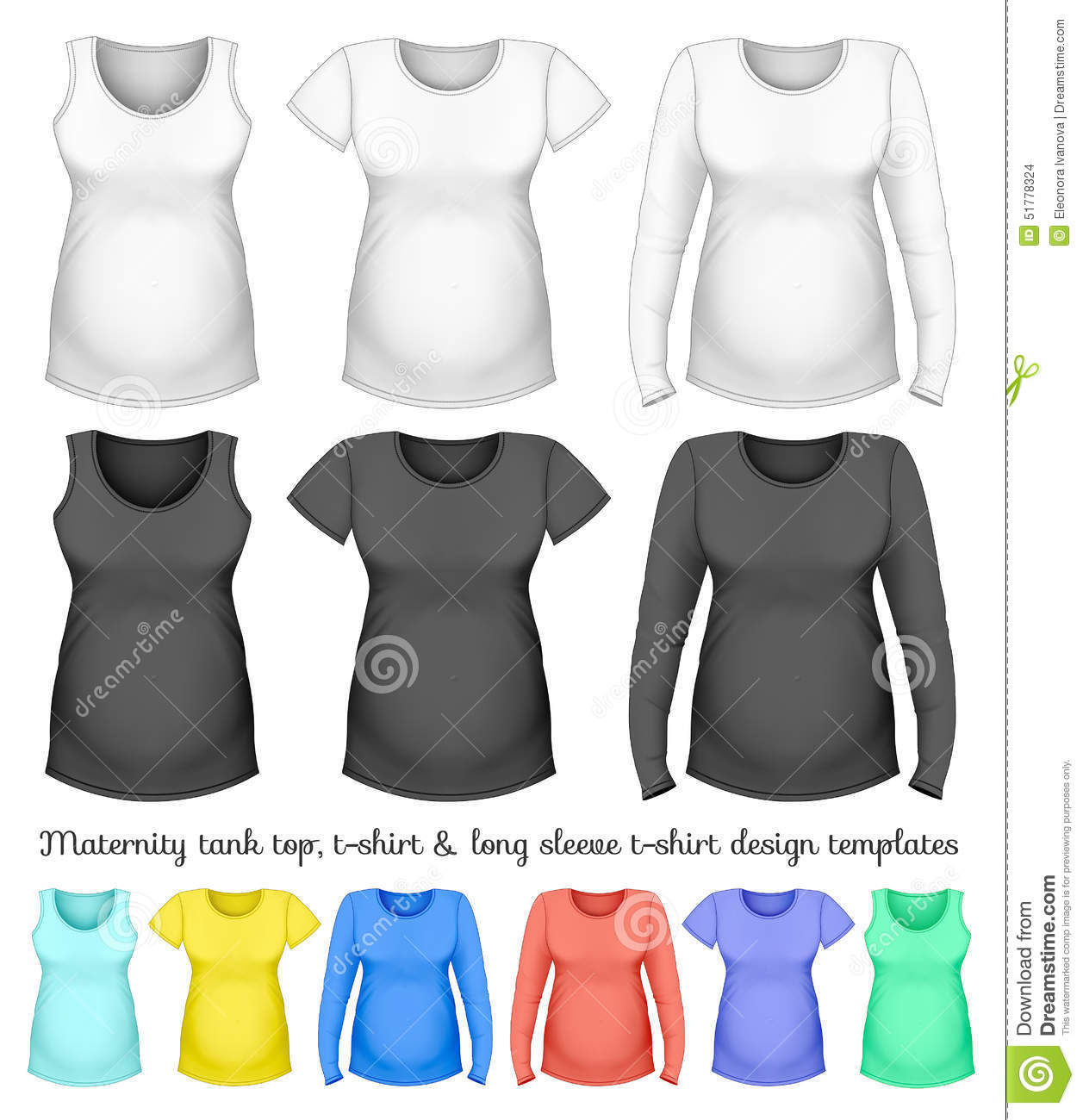 Maternity Clothes Design Templates For Your Vector Illustration