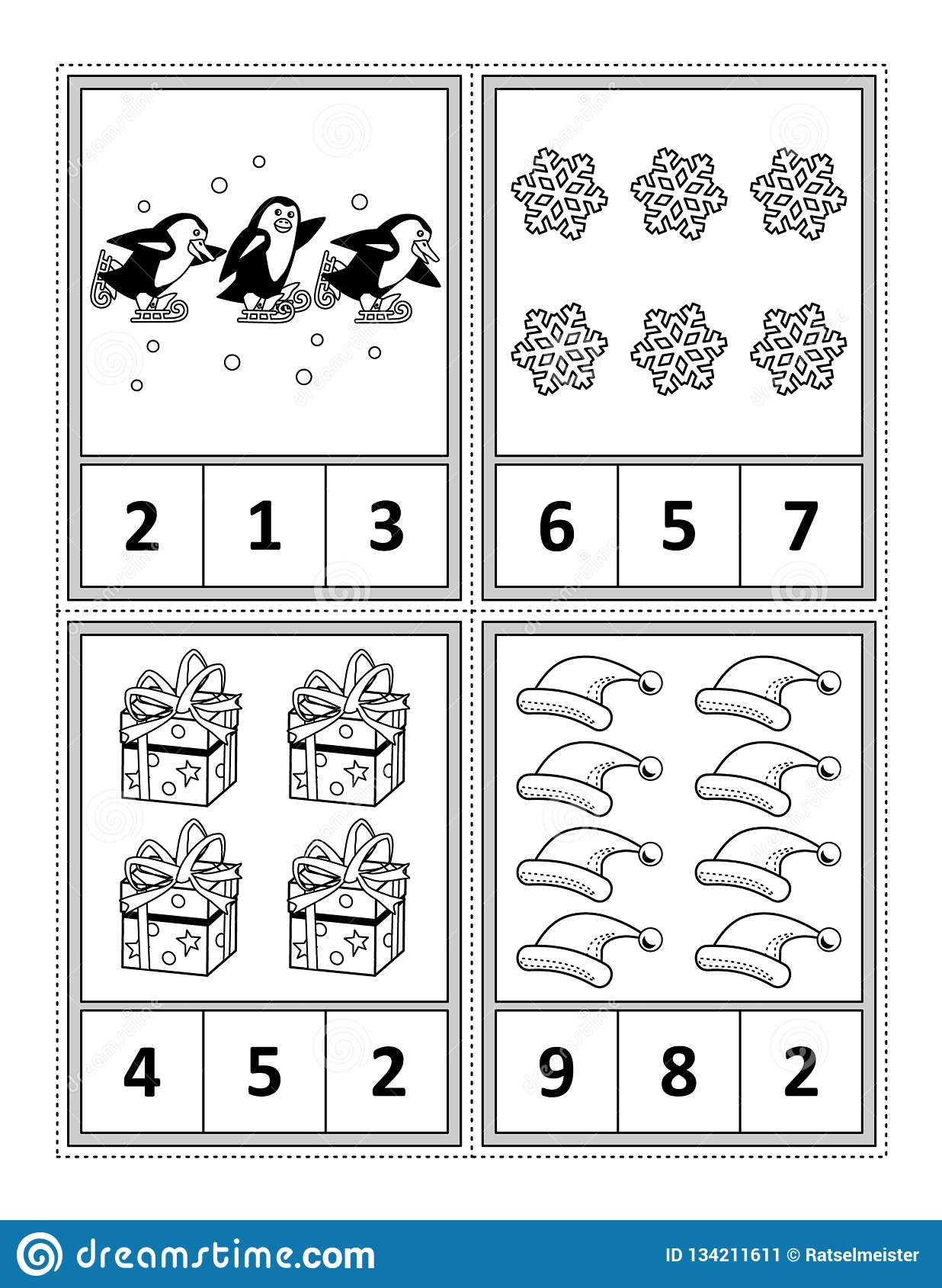 Math Activity Page For Kids - Count, Circle The Answer ...