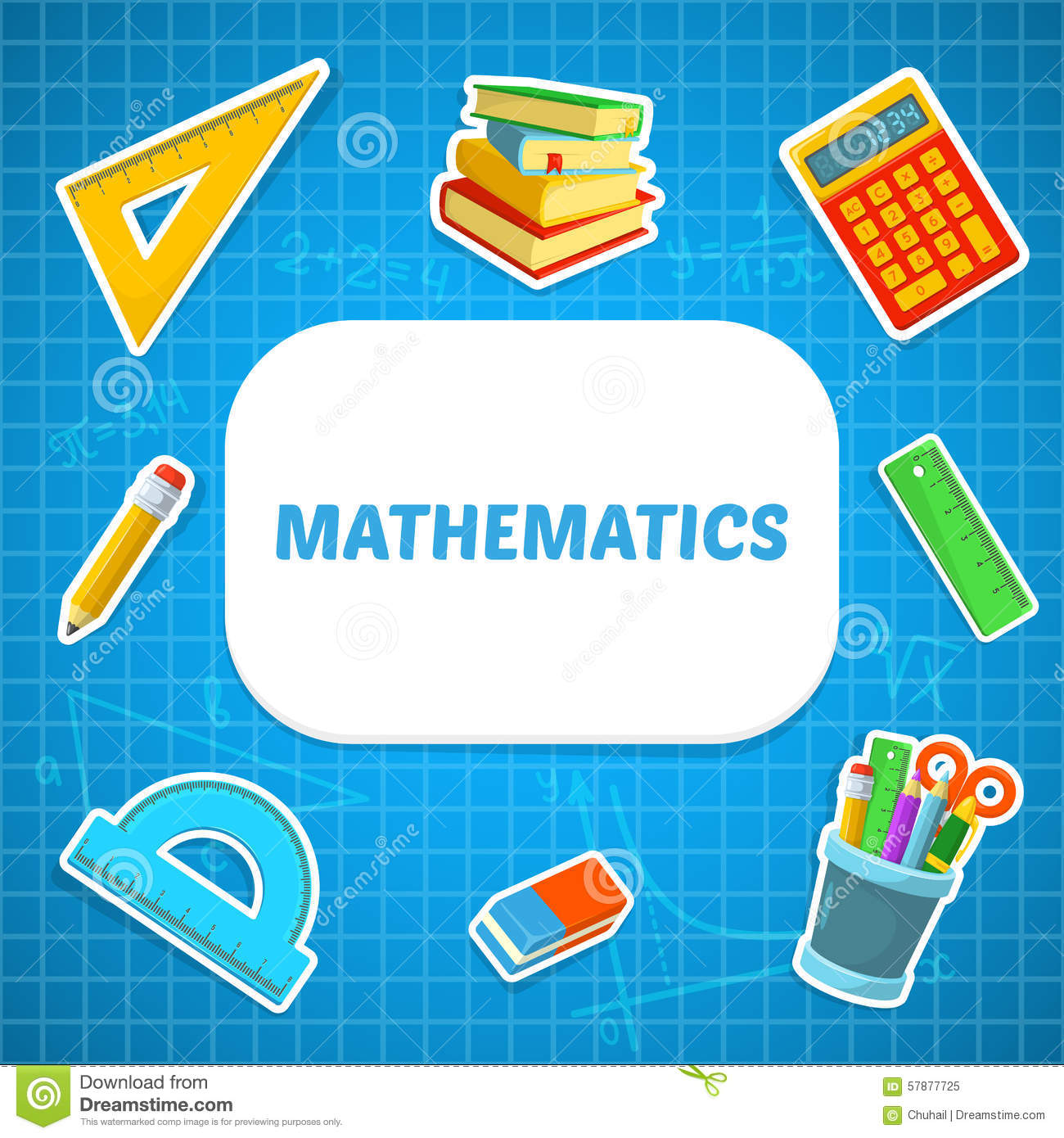 Math Backdrop Stock Vector Illustration Of Poster Learn