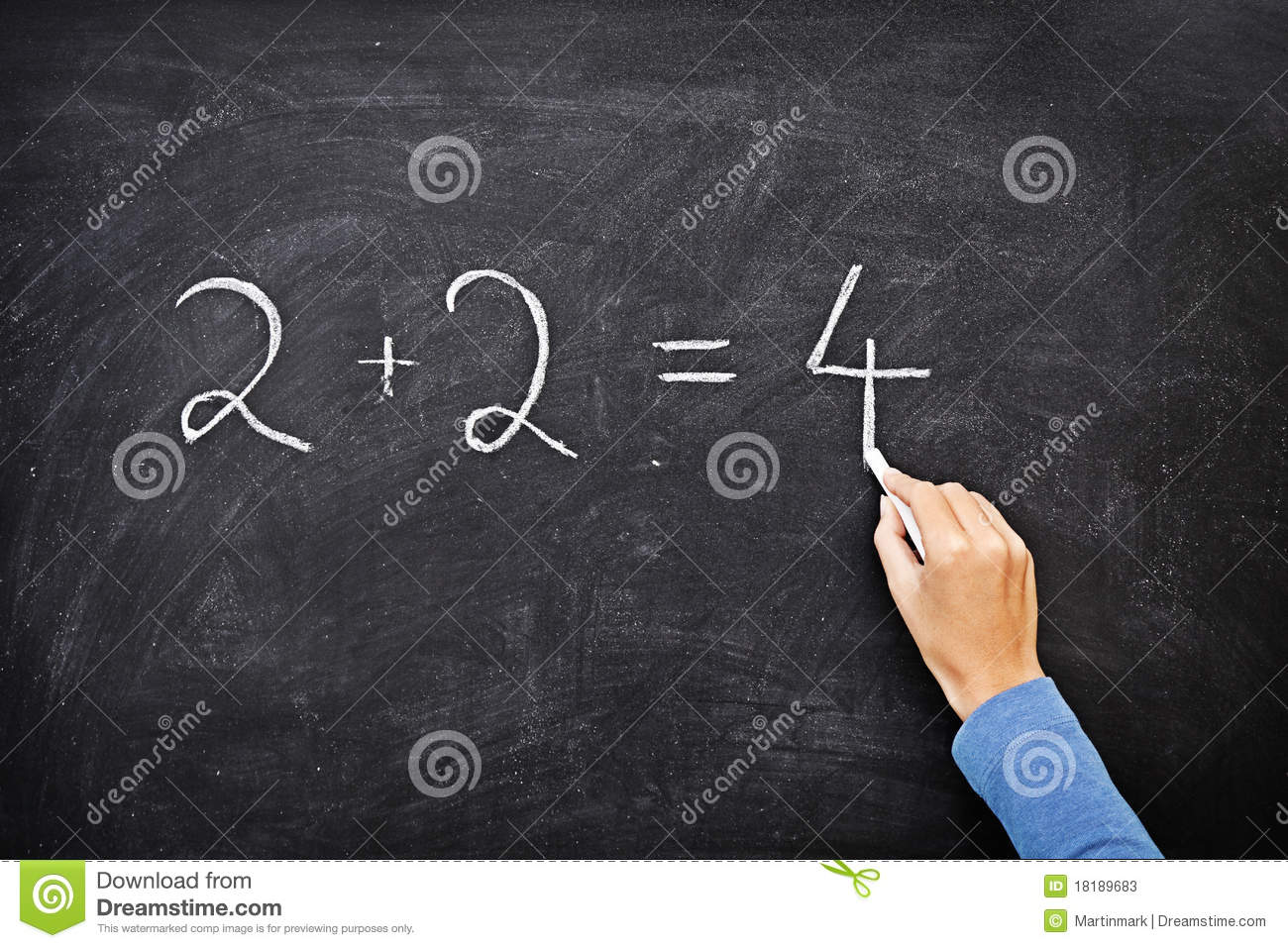 Math blackboard / chalkboard writing