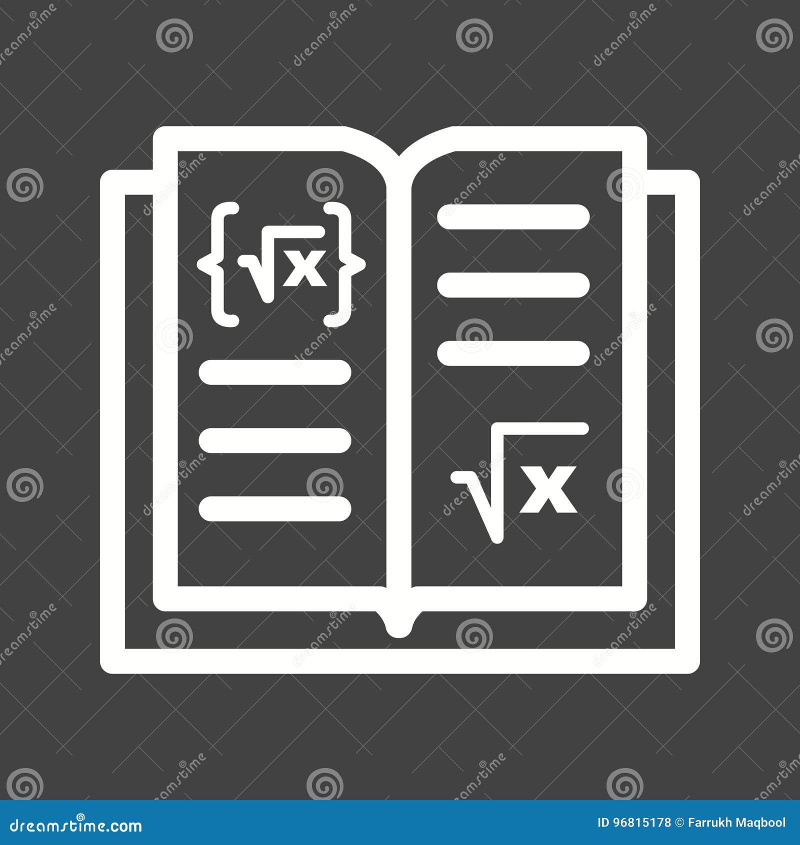 Math Book I Stock Illustration Illustration Of Knowledge 96815178