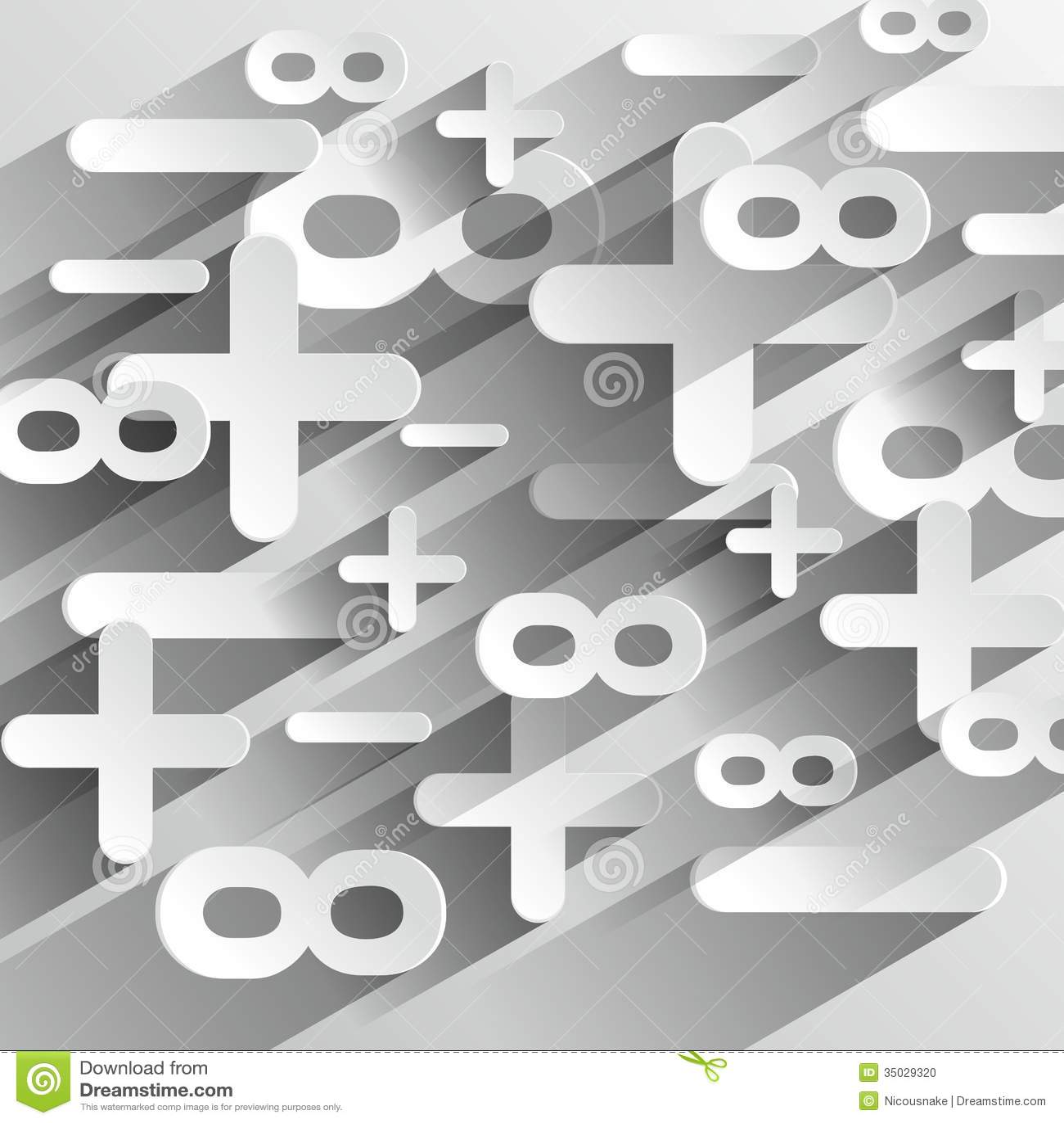 math calcul symbols stock photo