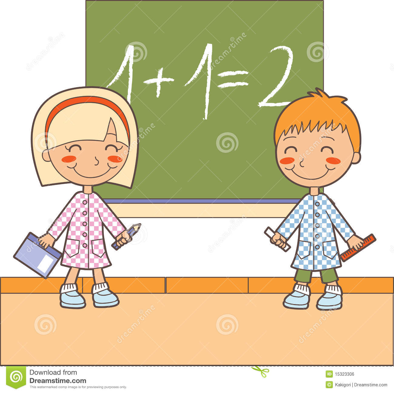 math classroom time stock vector illustration of learn