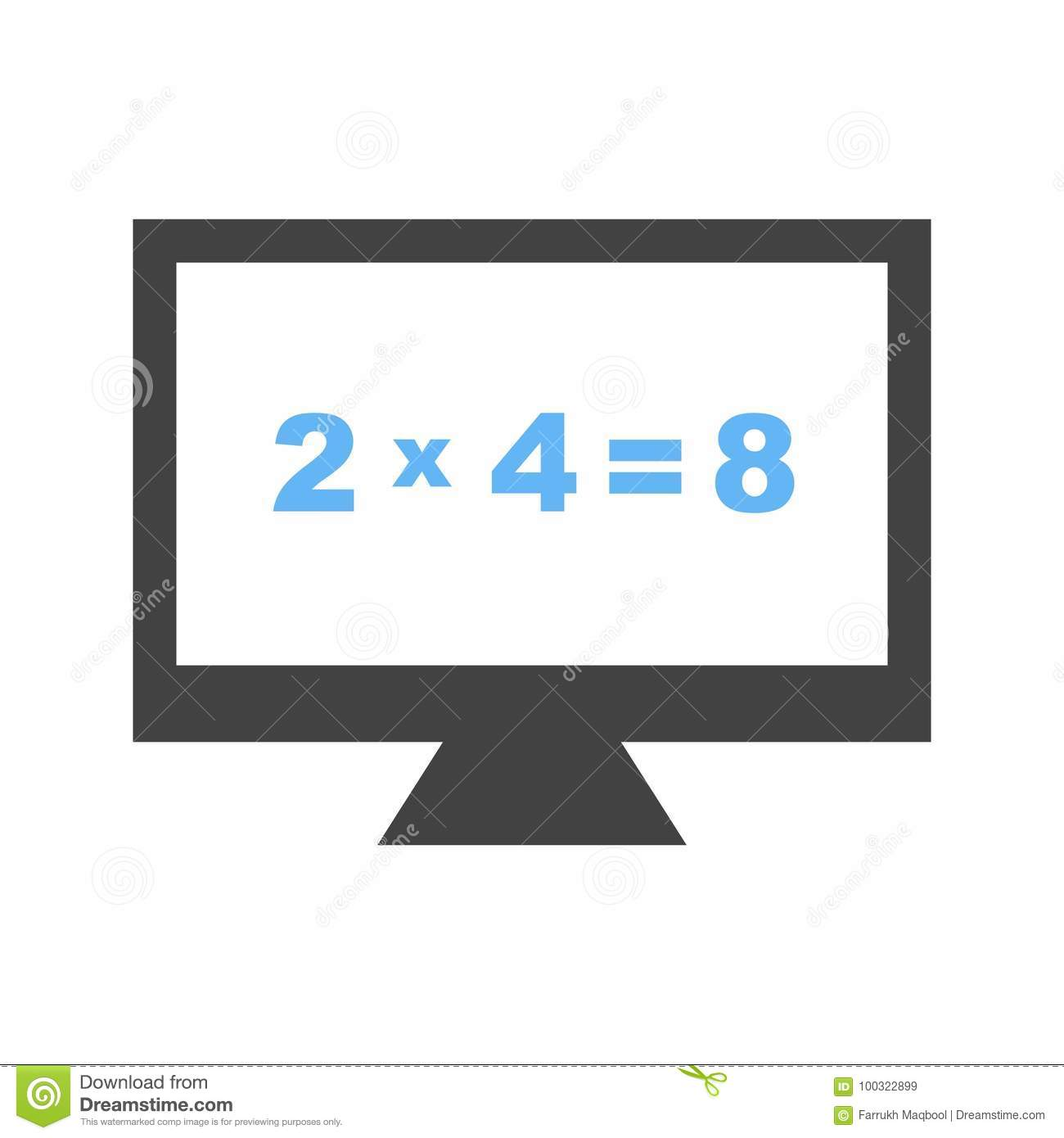 Math In Computer Stock Vector Illustration Of Binary 100322899