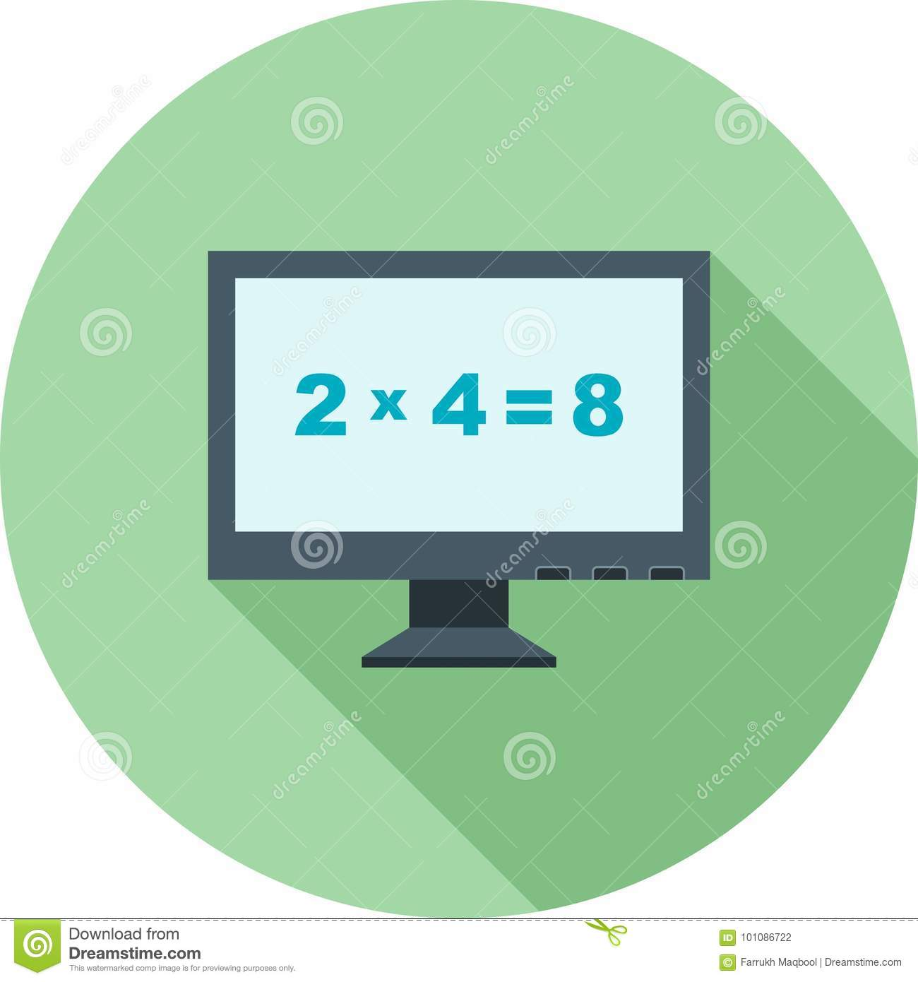 Math In Computer Stock Vector Illustration Of Tablet 101086722