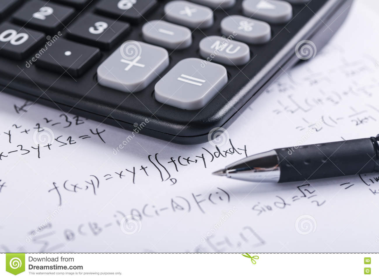 Math Concept stock image. Image of calculate, background - 71385373