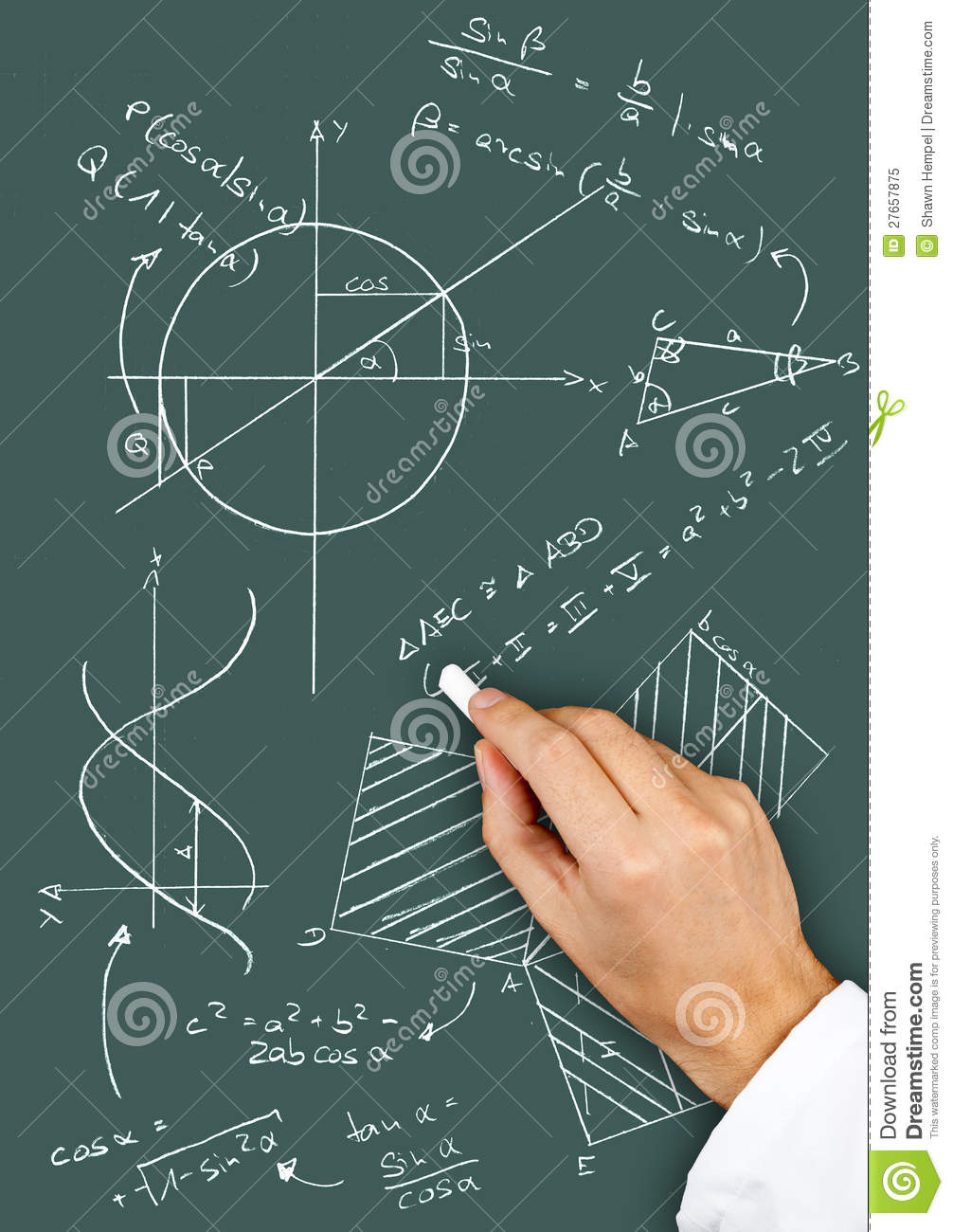 Math Diagrams And Formulas Stock Image  Image Of Calculate