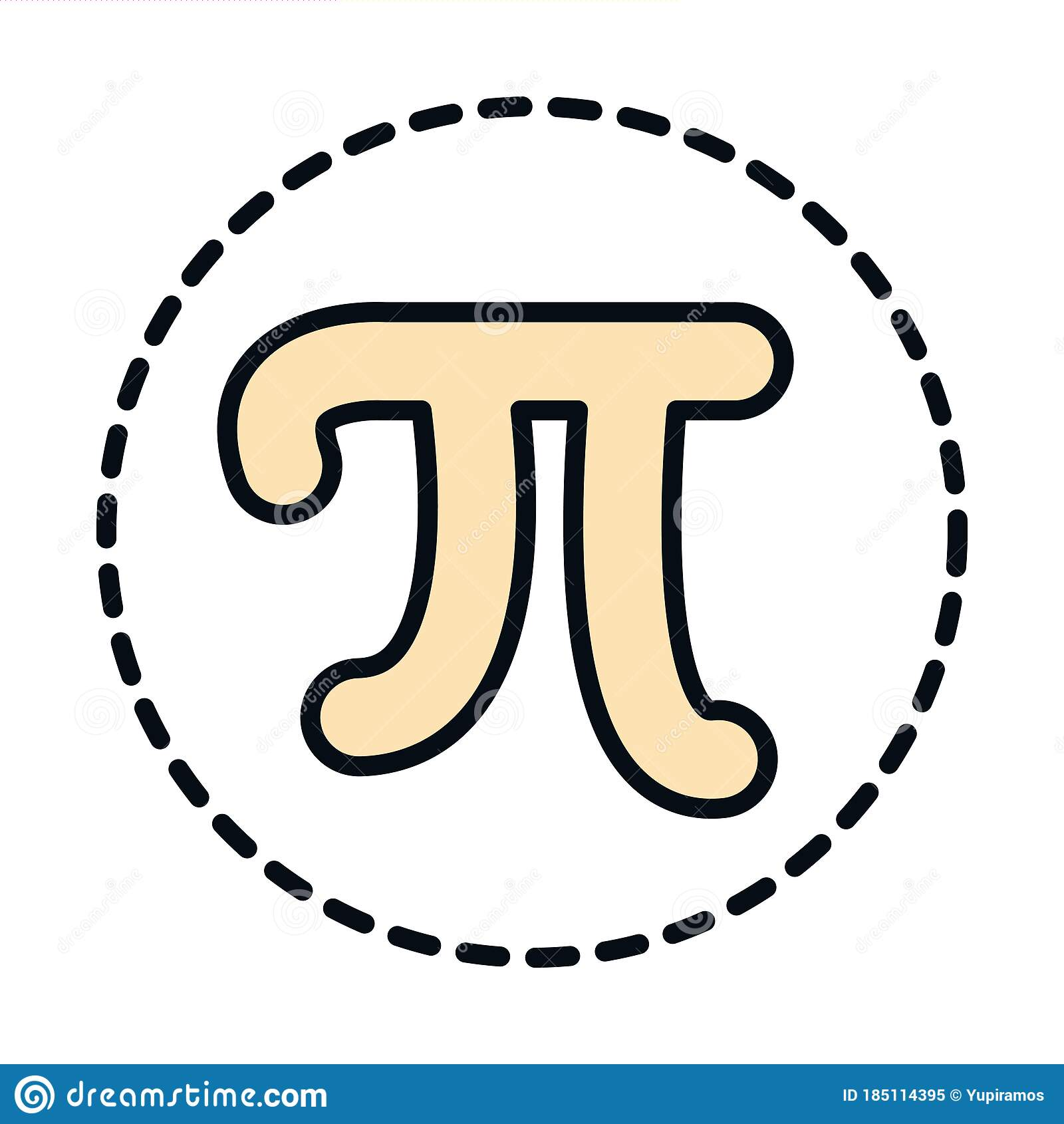 Pi Symbol Coloring Page