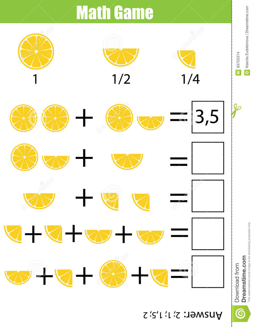 Math Educational Counting Game For Children Addition Worksheet – Counting Quarters Worksheet