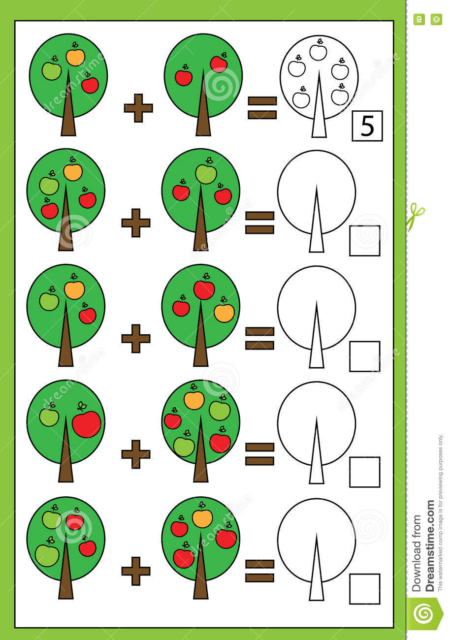 Math Educational Counting Game For Children Addition