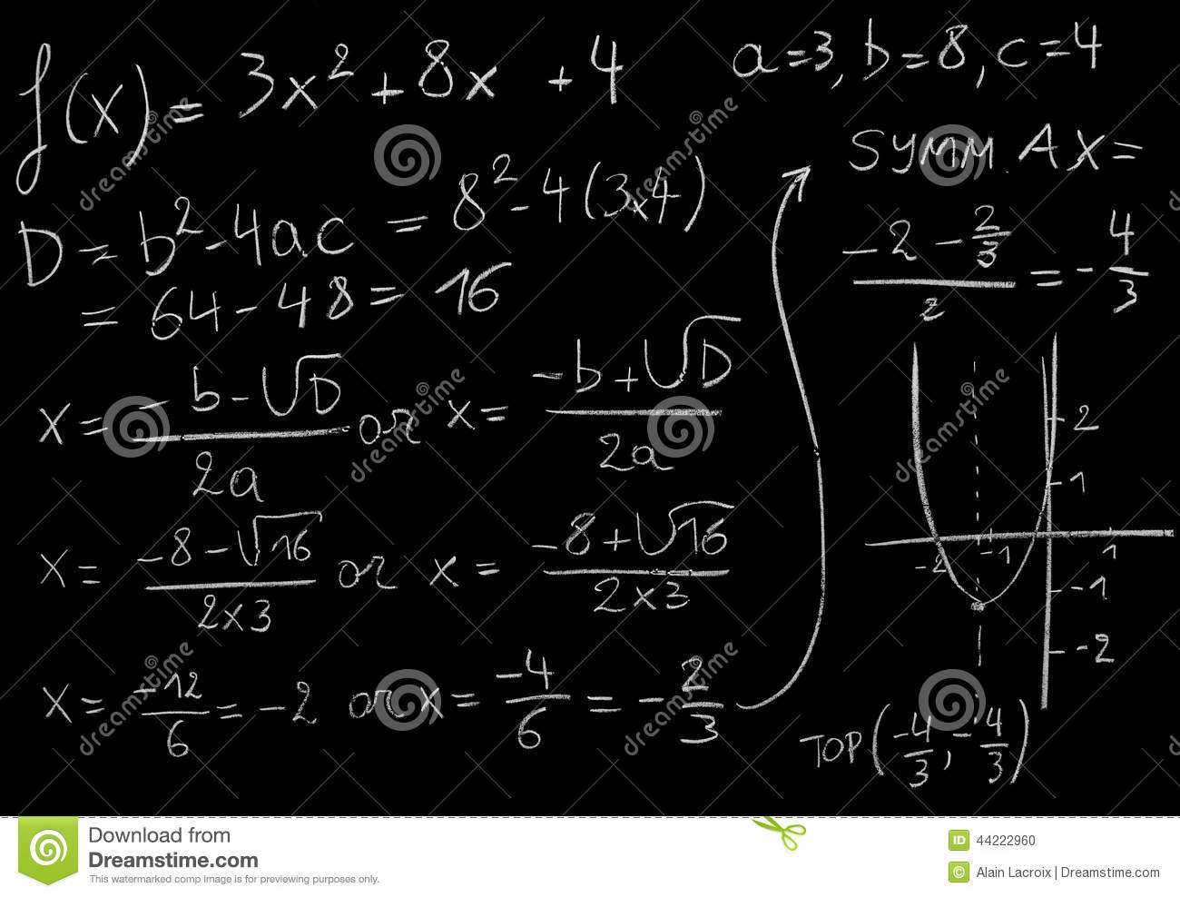 By Drawing The Line Y On The Grid Solve The Equations : Math equation stock photo image