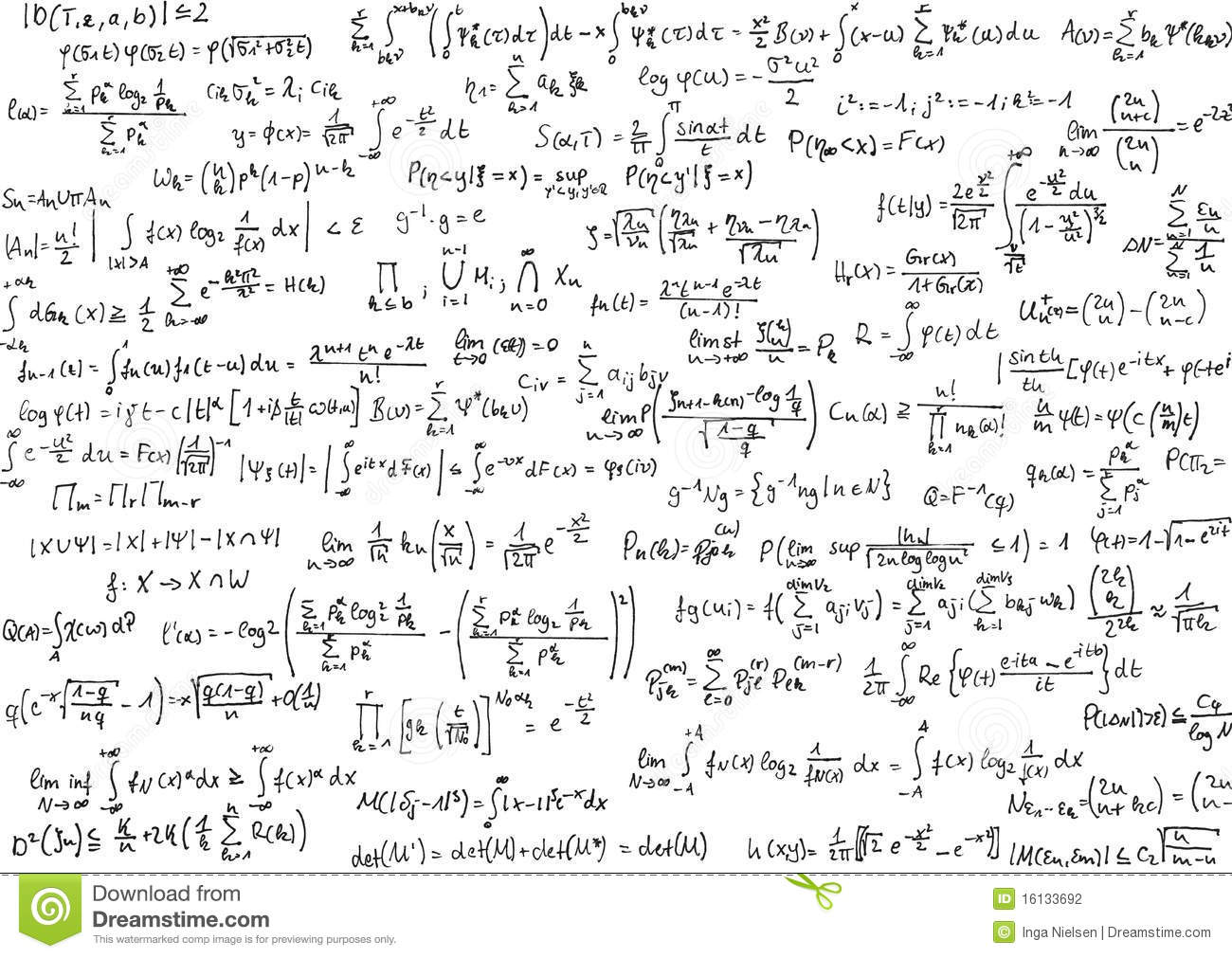 Math Equations Stock Photography - Image: 16133692