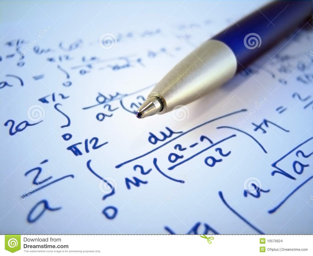 Math Exercise Stock Images - Image: 10570624