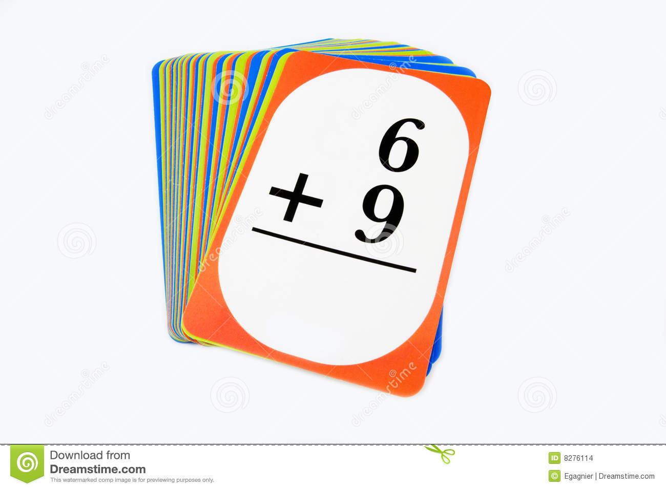 Math Flash Cards stock photo. Image of educate, flash - 8276114