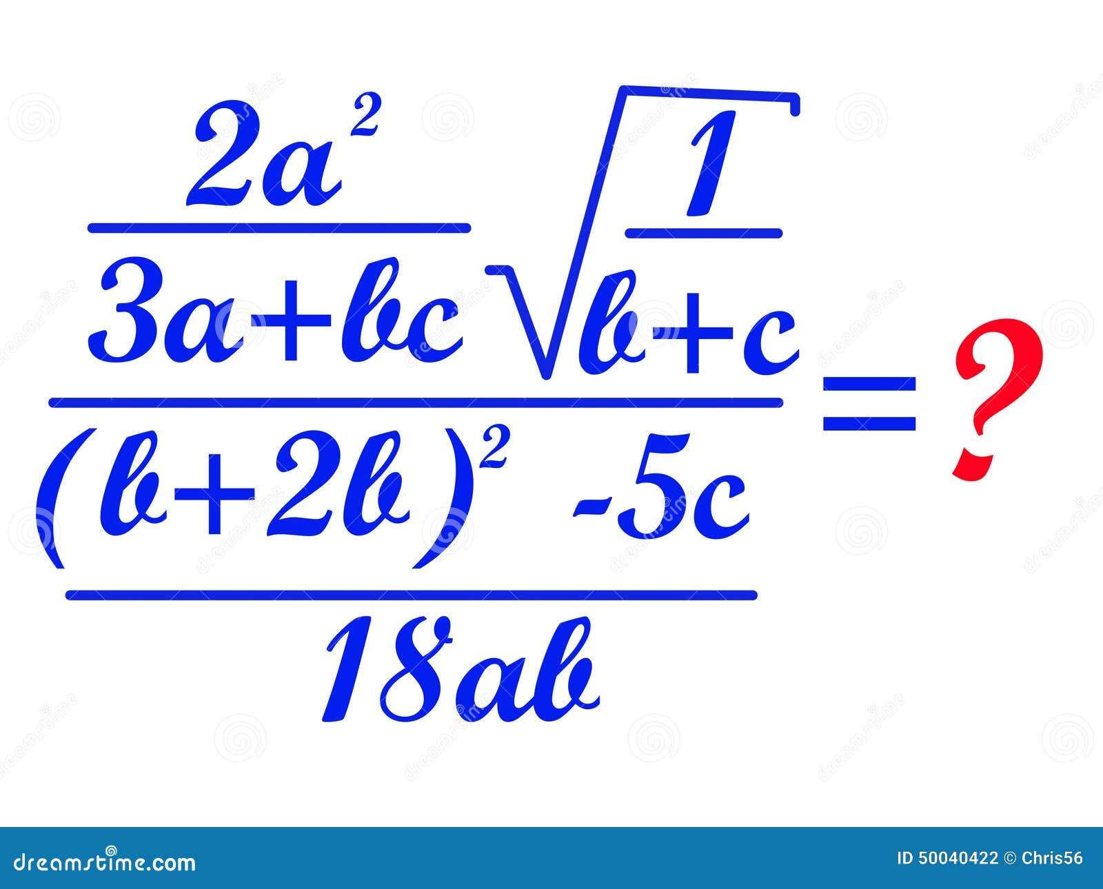 Math Formula Stock Photo - Image: 50040422