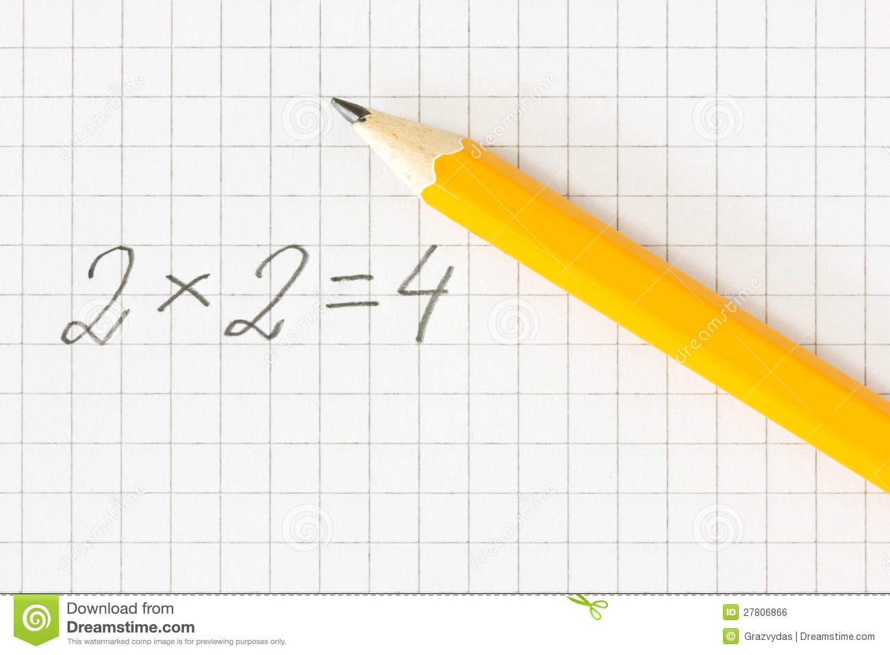 Math Formula And Pencil On Squared Paper Royalty Free ...