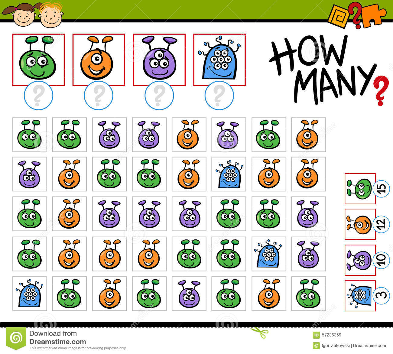 math worksheet : math game cartoon illustration stock vector  image 57236369 : Math Game For Kindergarten