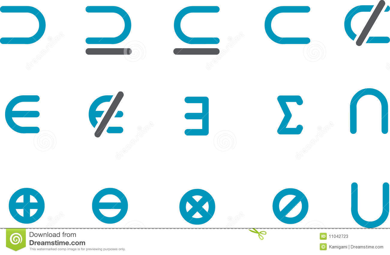 Math Icon Set Stock Photos - Image: 11042723