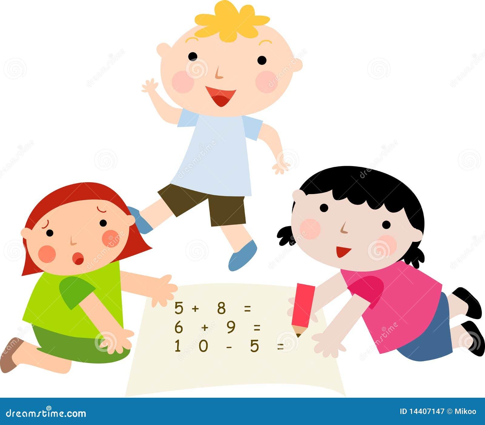 Math kids stock vector. Illustration of arithmetic, math ...