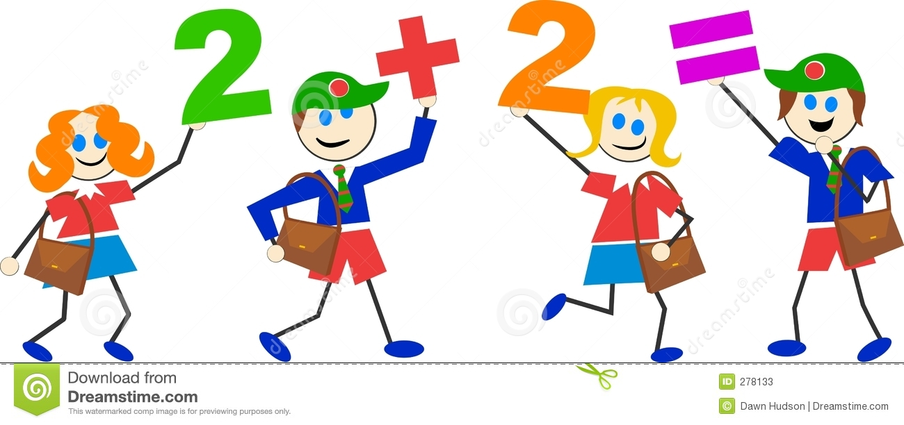 Math kids stock illustration. Illustration of arithmetic ...