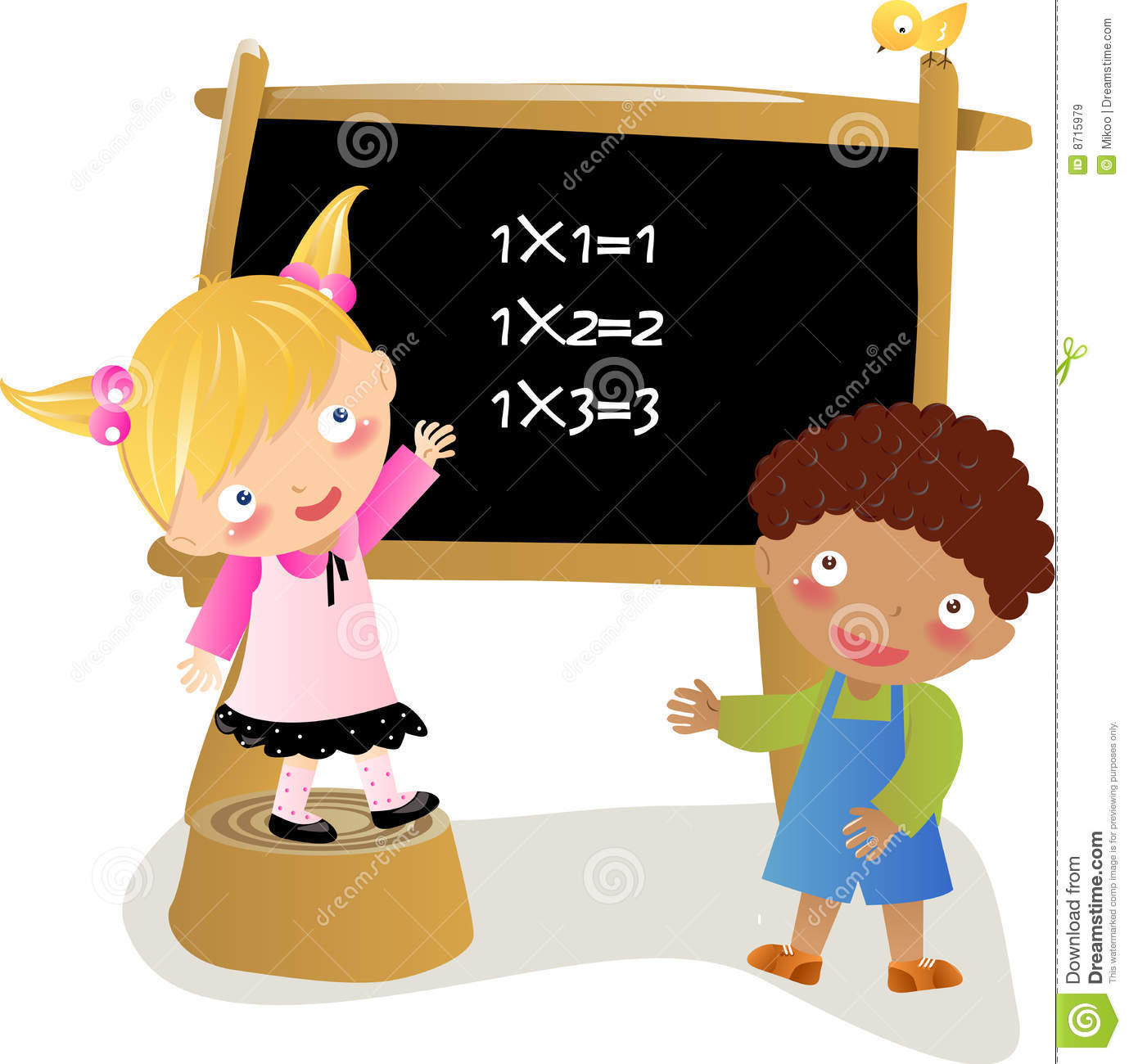 math kids stock vector. illustration of diversity, desk - 8715979