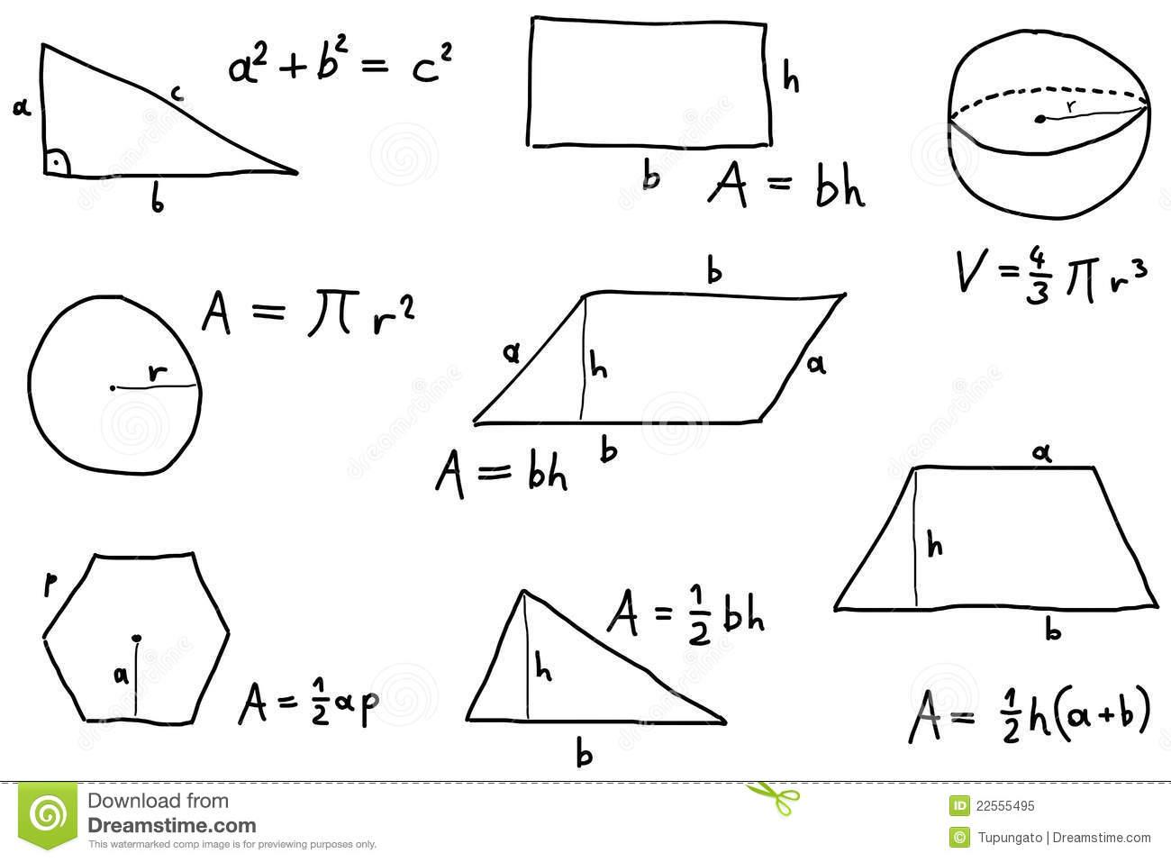 Math Lesson Royalty Free Stock Photo - Image: 22555495