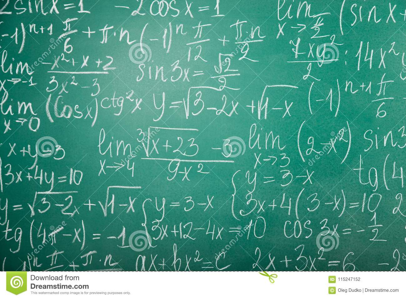 Math Formulas On School Tablet Stock Photo - Image of equations ...