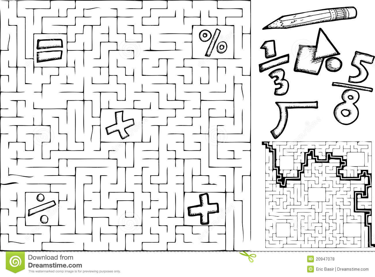 Mazes Worksheets Delibertad – Math Maze Worksheets