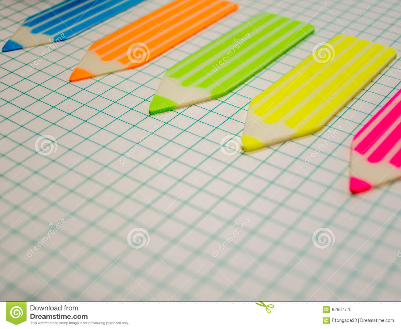 Math Notebook And Stickers Crayon Shape Business Concept With Copy ...