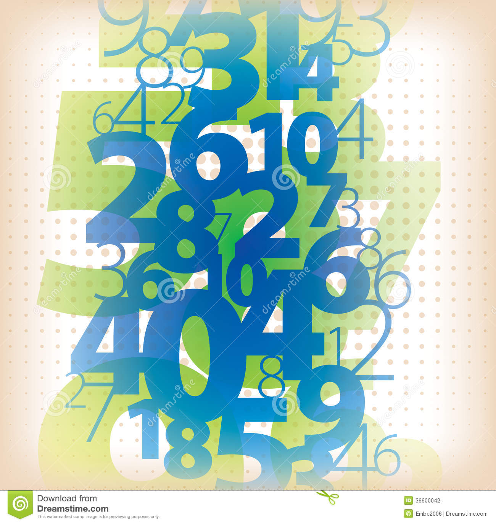 math number background stock vector. illustration of floating - 36600042