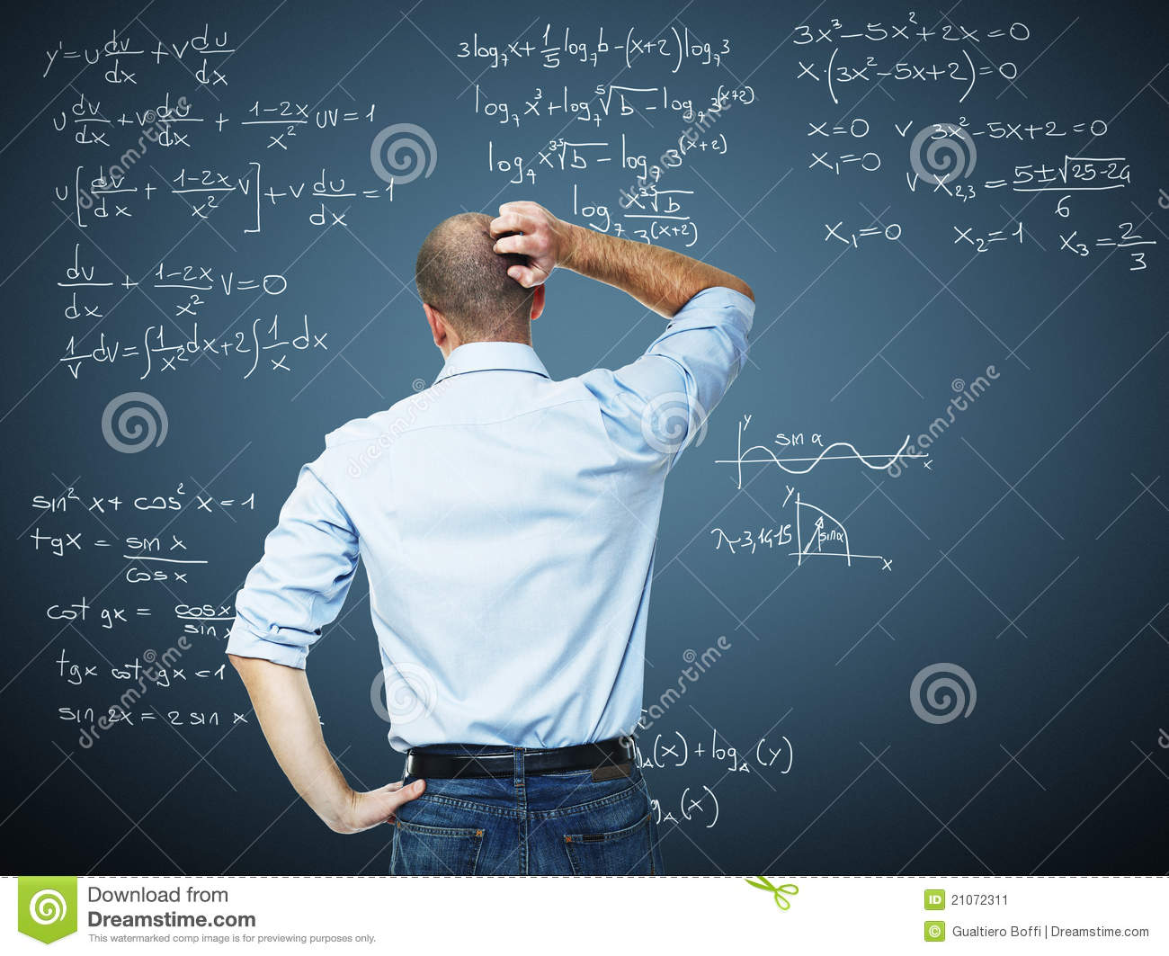 Math Problem Stock Image Image Of Caucasian Student