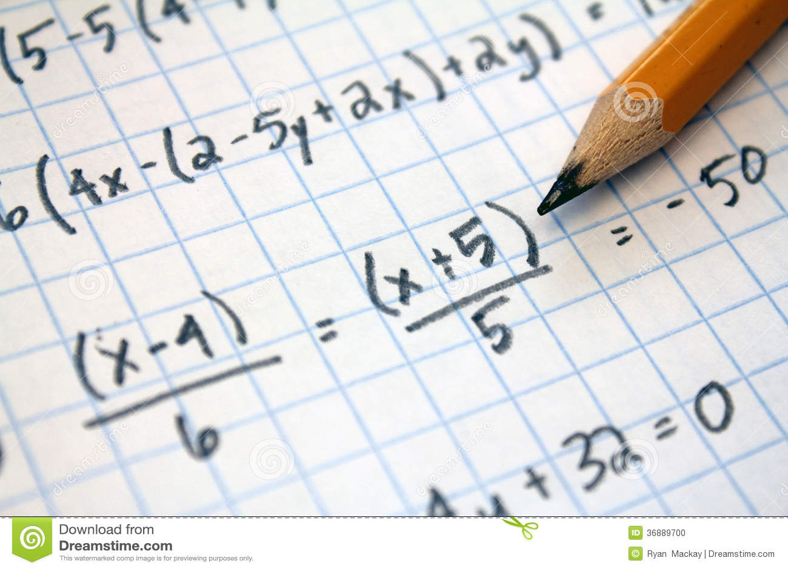 Math problems stock photo. Image of equation, algebra - 36889700
