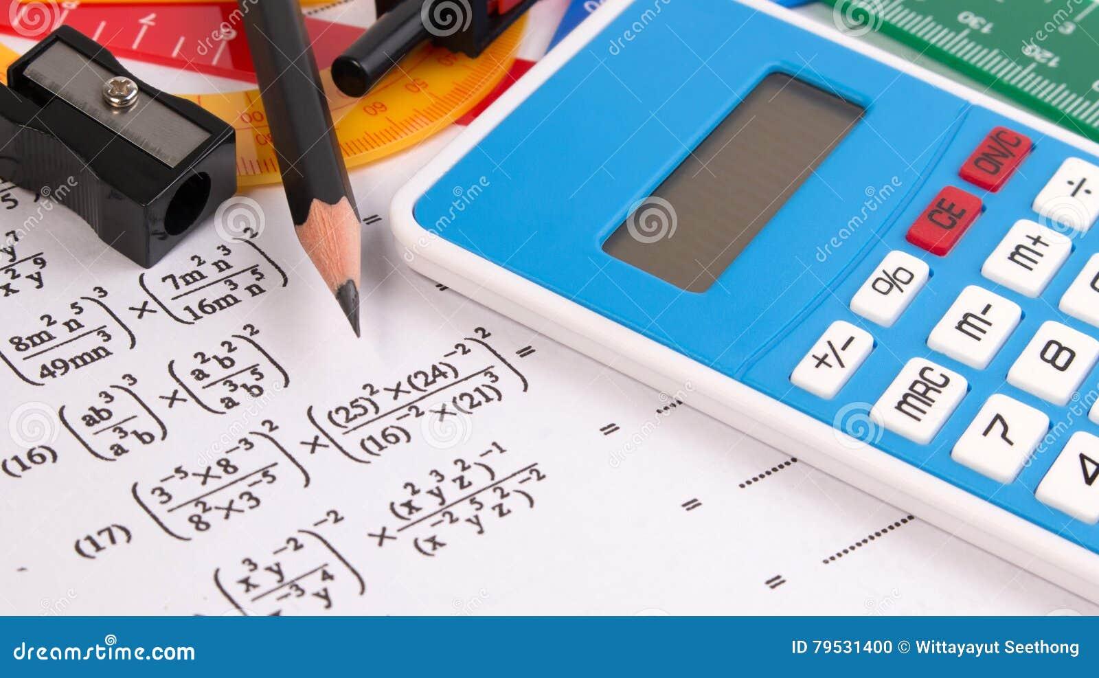Math Quadratic Equation Concepts. School Supplies Used In Math. Math ...