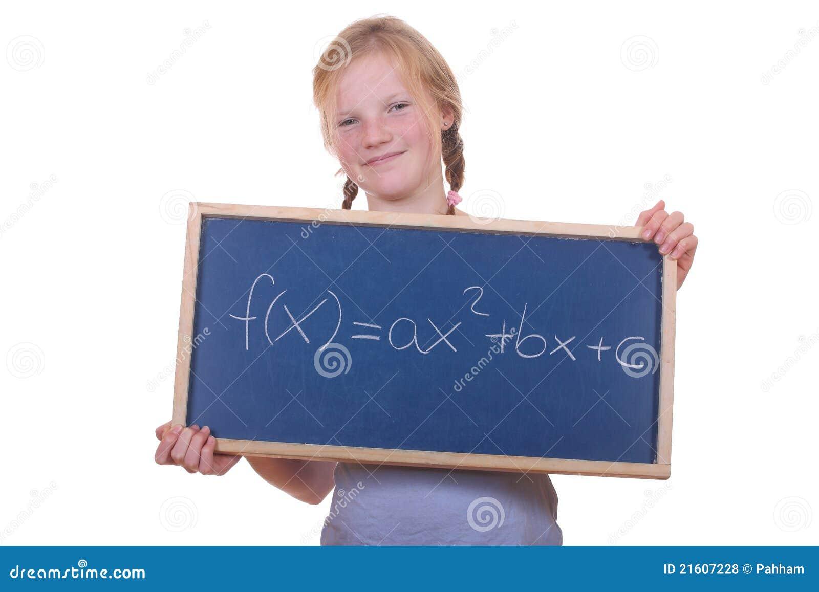 Math student stock photo. Image of black, quadratic, intelligence ...