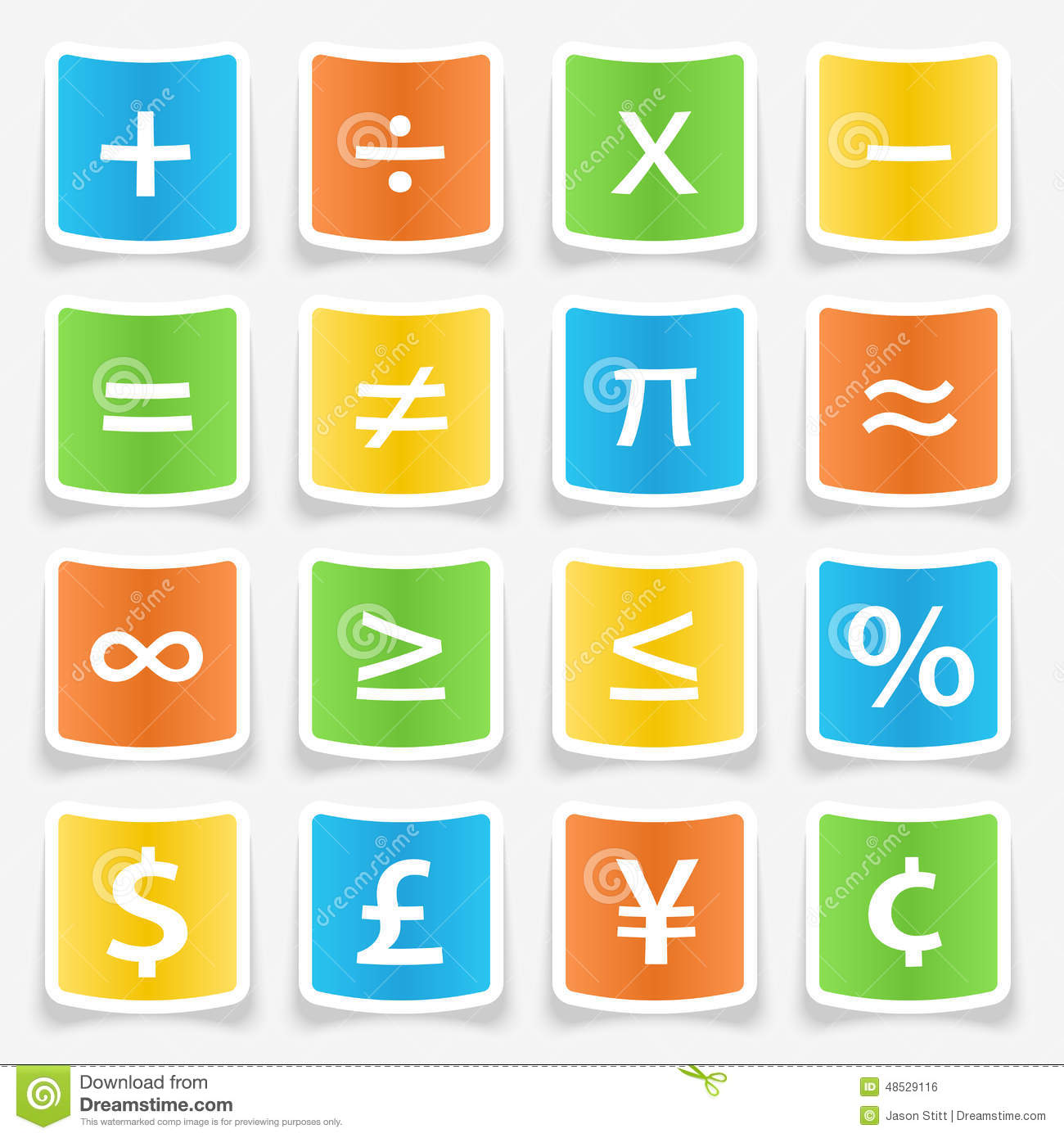 Math symbol stickers stock vector illustration of button 48529116 math symbol stickers biocorpaavc