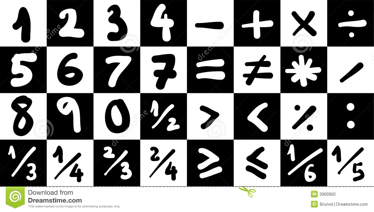 Math Symbols stock illustration. Illustration of multiply ...