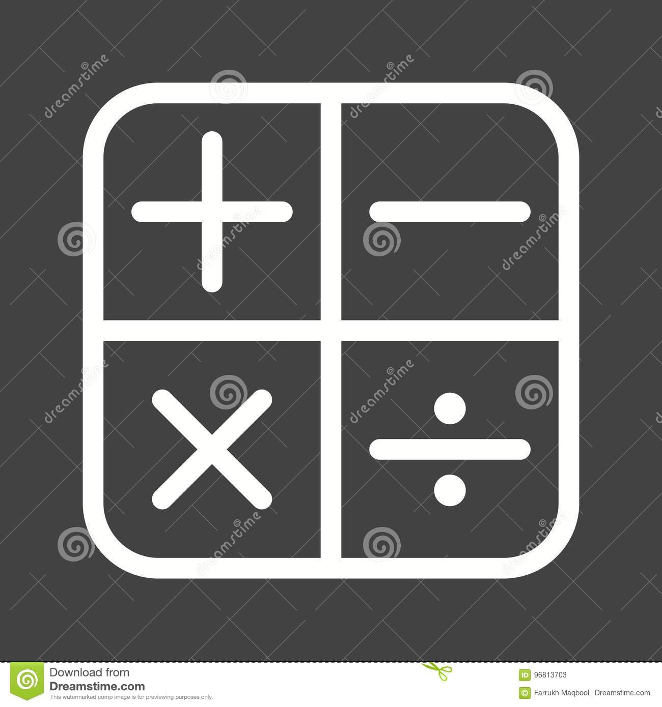 Math symbols i stock illustration image of signs concept 96813703 math symbols i buycottarizona