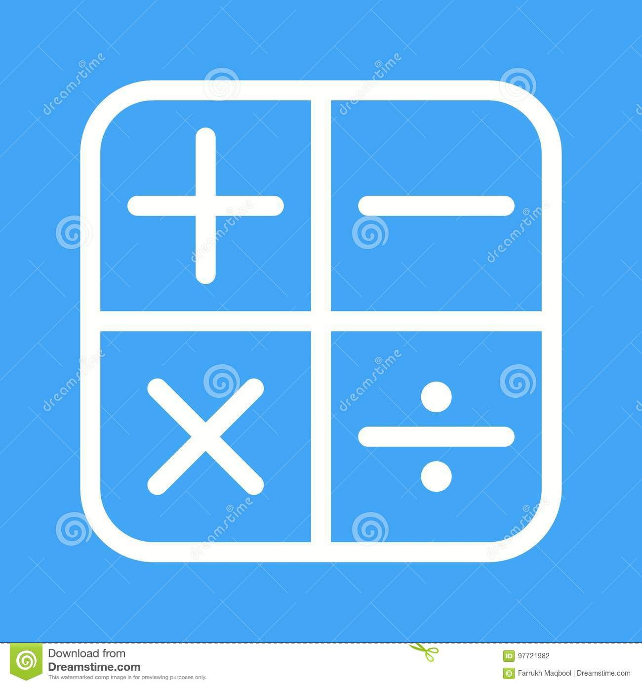 Math symbols i stock vector illustration of algebra 97721982 math symbols i buycottarizona