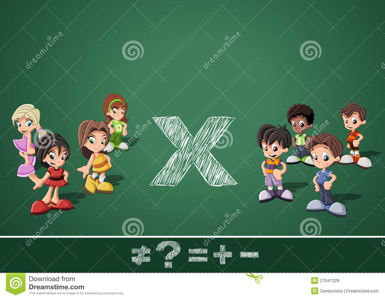 Math symbols and kids stock vector illustration of against 27041328 math symbols and kids biocorpaavc Image collections