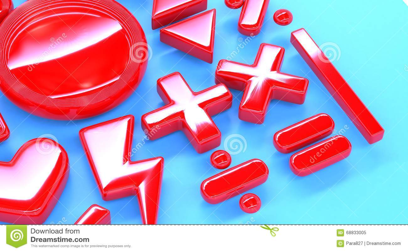 Math Symbols Illustration 68833005 Megapixl