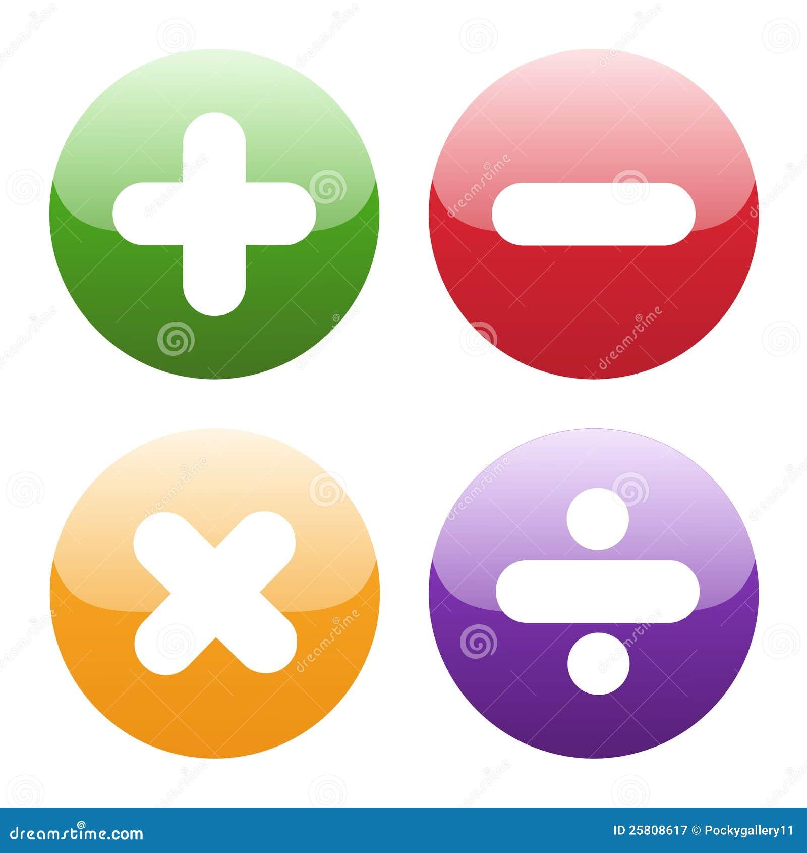 Math Symbols On White Stock Vector Illustration Of Adding 25808617