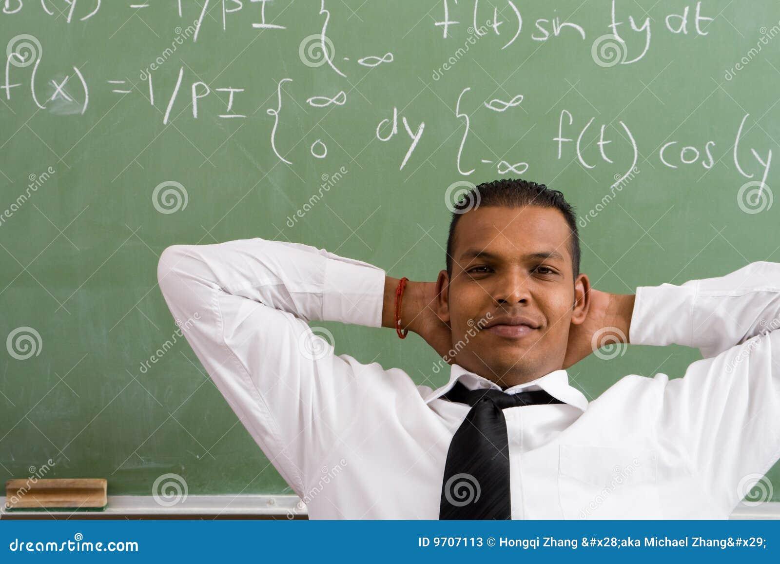 Math teacher stock image. Image of looking, adult, portrait - 9707113