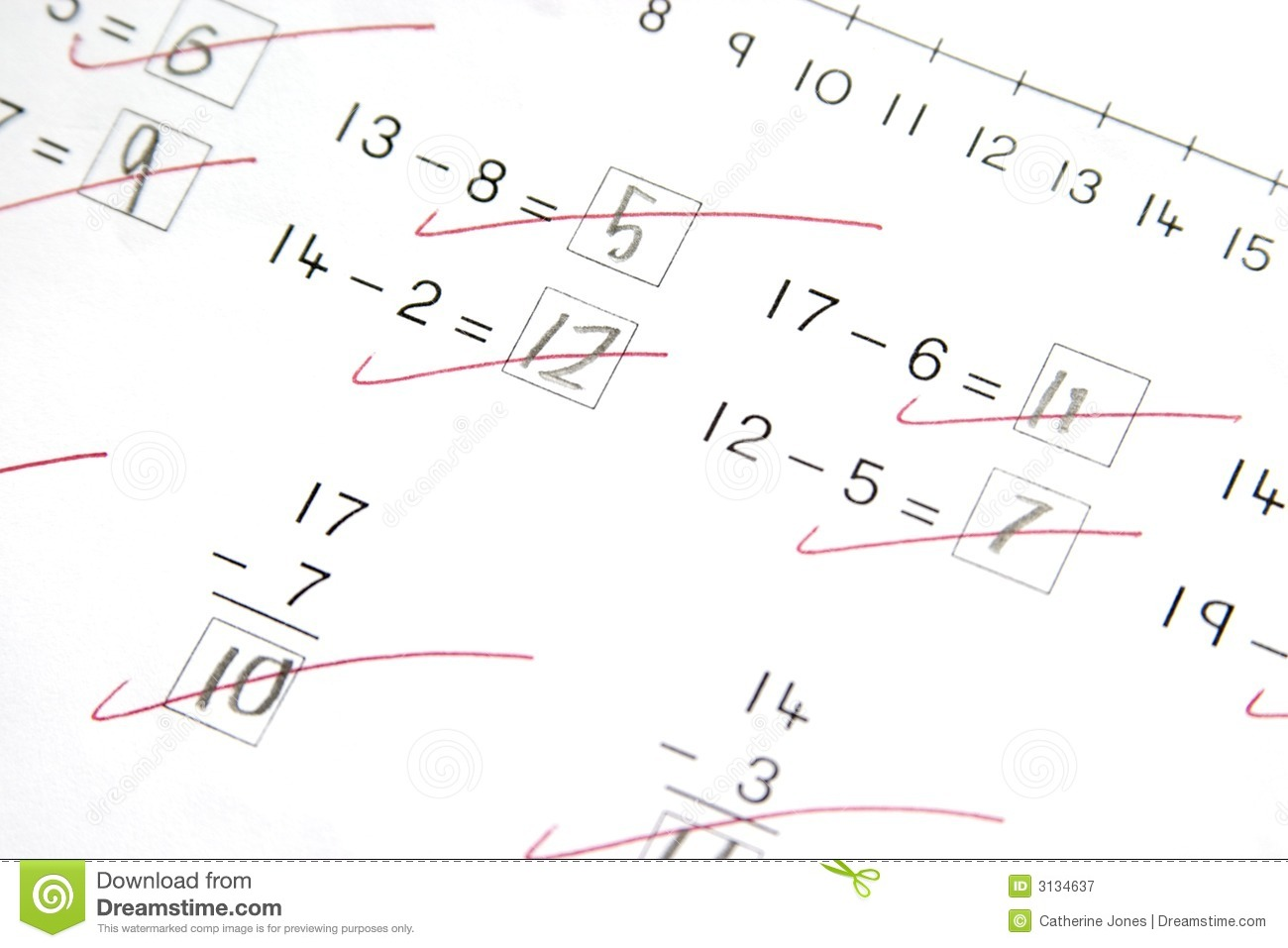 Worksheet Elementary Maths subtraction stock photos images pictures 3875 math test elementary school royalty free photography