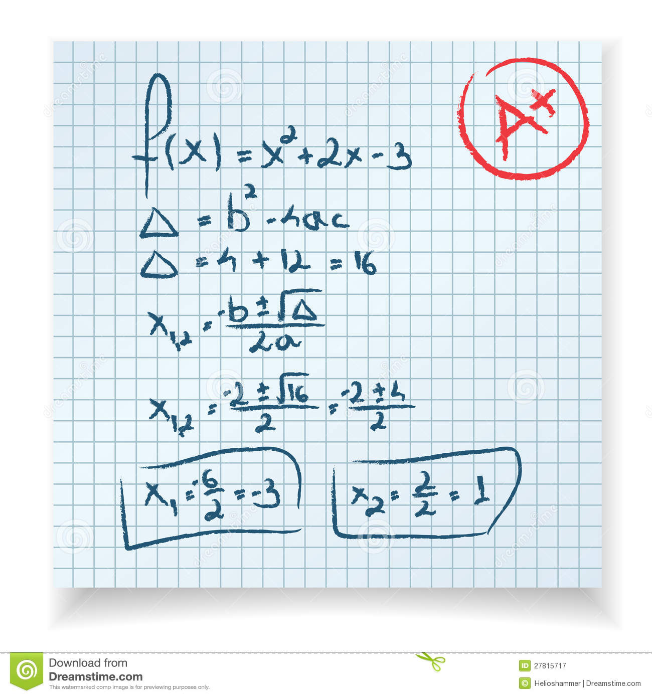 Math Test And Exam Royalty Free Stock Photography - Image: 27815717