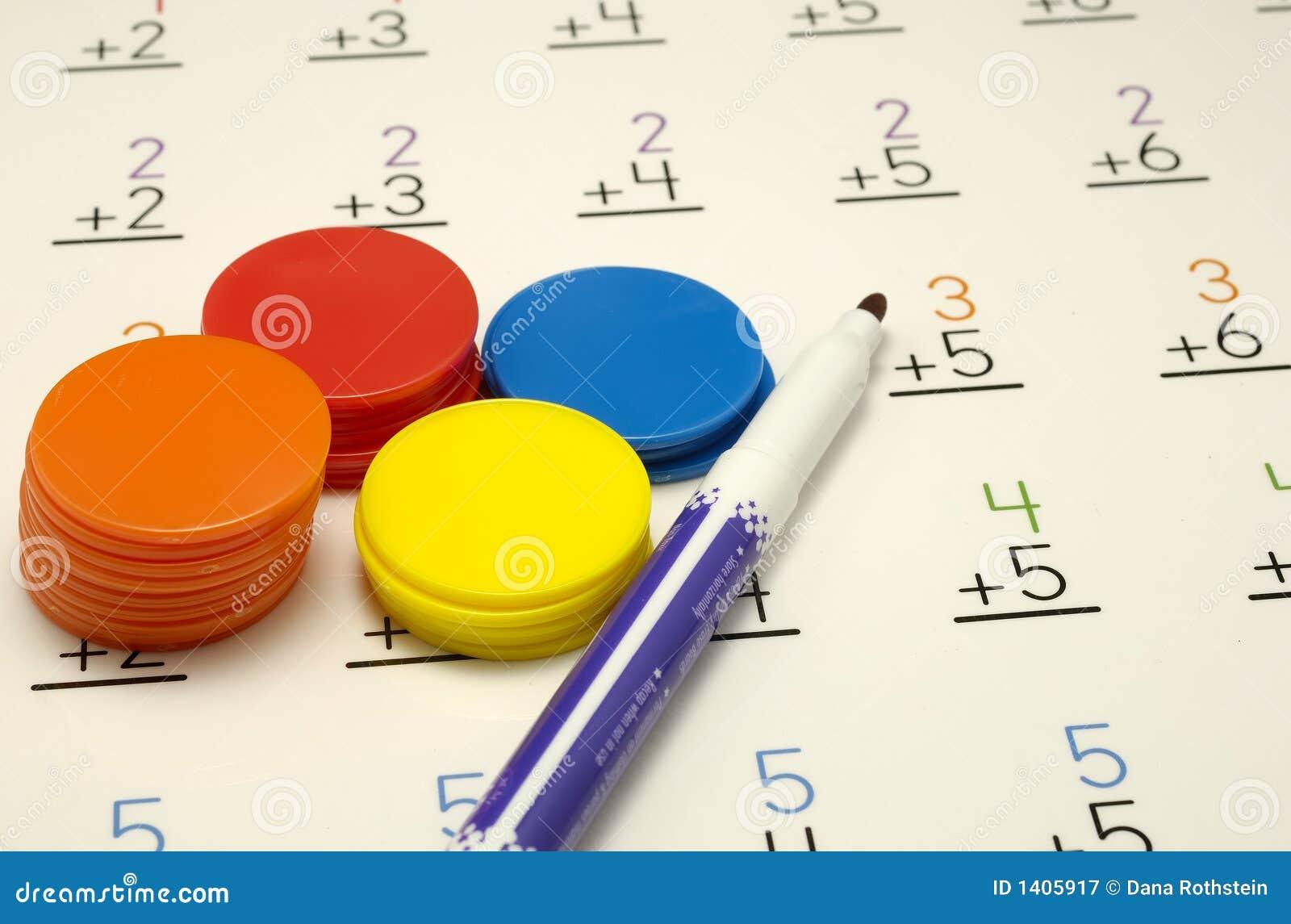Mathe stockbild. Bild von bogen, praxis, mathe, learn - 1405917