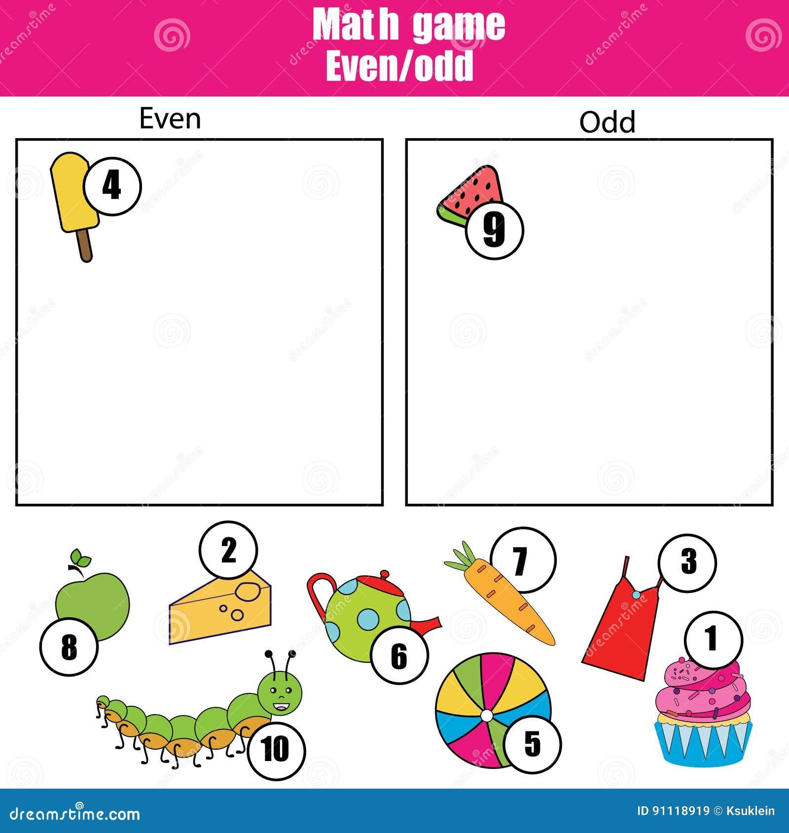 Mathelernspiel Für Kinder Sogar Lernen Und Ungerade Zahlen ...
