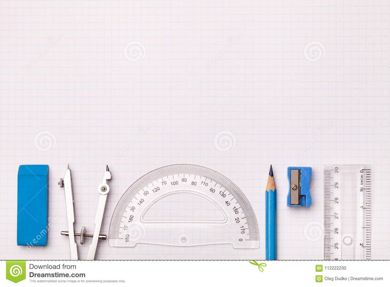 mathematical accessories stock photo image of graph 112222230