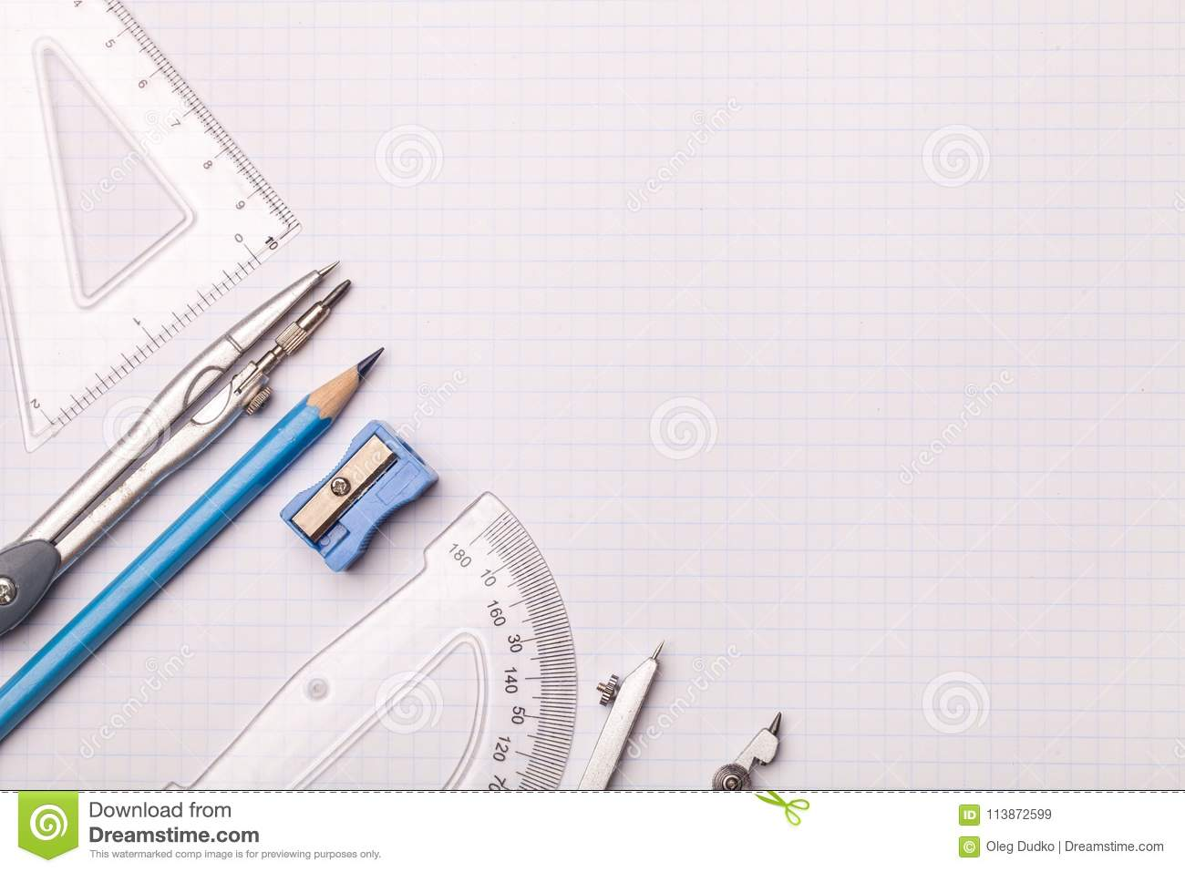 mathematical accessories stock image image of instrument 113872599