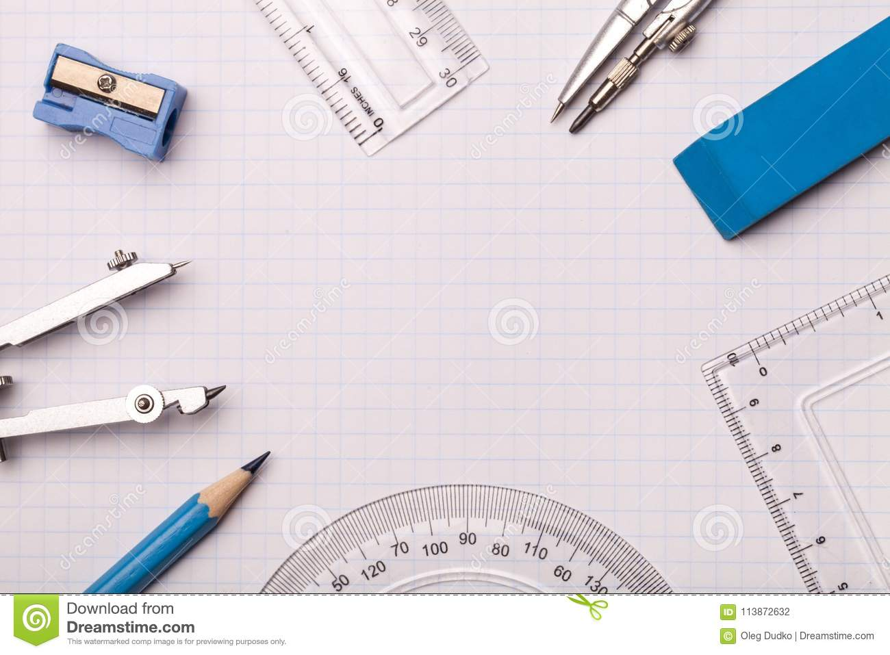 mathematical accessories stock photo image of tool 113872632