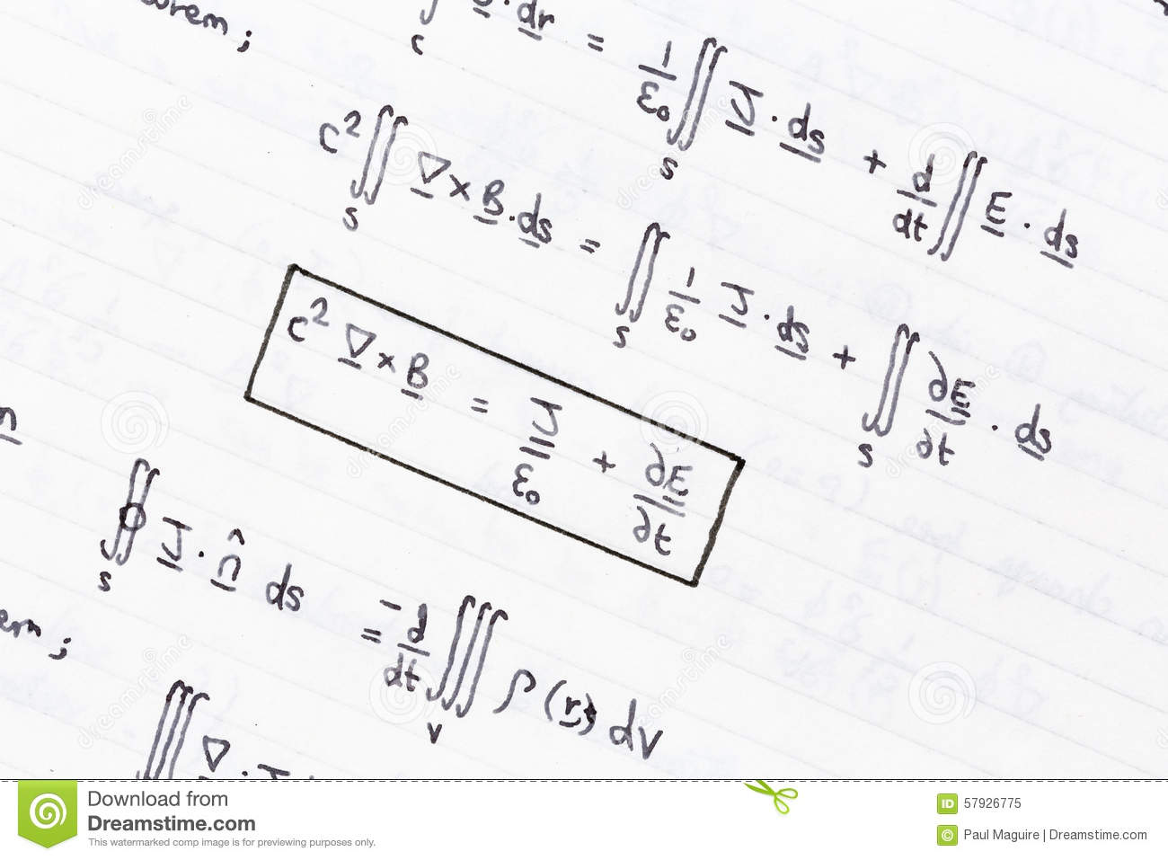 mathematical equations stock image image of hand close